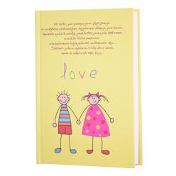 Deffter Love Çizgili Not Defteri 14x20 cm 64927-3 - Thumbnail