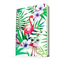 Deffter Paradise-Flamingo Flower/Sert Kapak Çizgili 14x20 Cm - Thumbnail