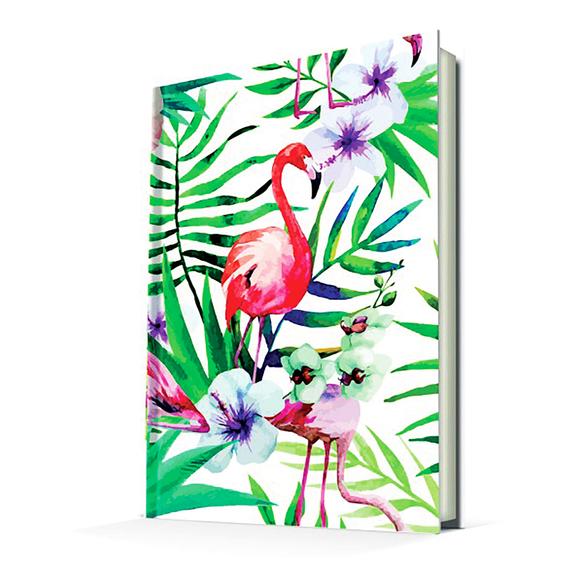 Deffter Paradise-Flamingo Flower/Sert Kapak Çizgili 14x20 Cm