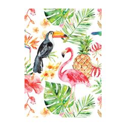 Deffter Paradise Flamingos Sert Kapak 64417-9 - Thumbnail
