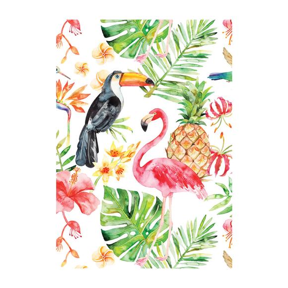 Deffter Paradise Flamingos Sert Kapak 64417-9