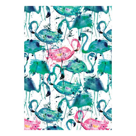Deffter Paradise Flamingos Sert Kapak 64418-6