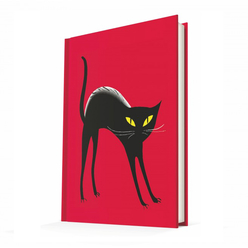 Deffter Summer Cats-Black Cat/Sert Kapak Çizgili 14x20 Cm - Thumbnail