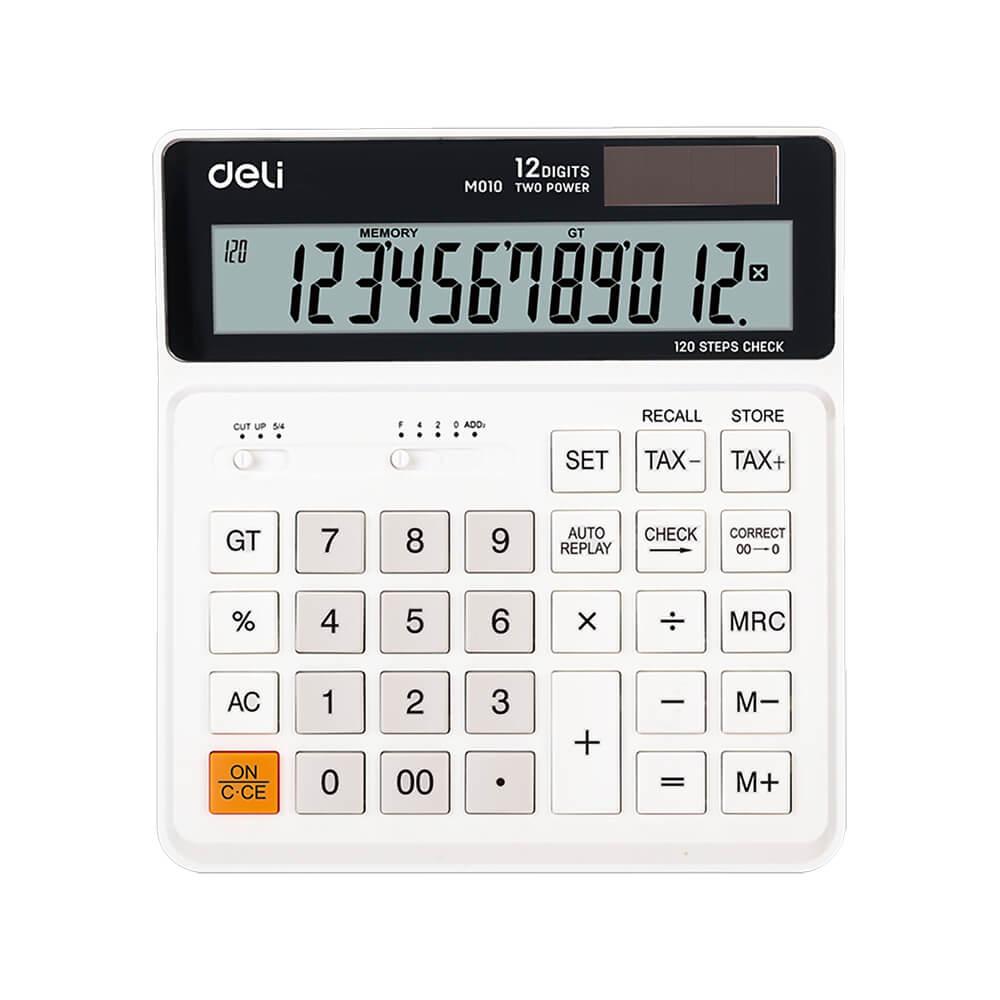 Deli Hesap Makinesi Smart 12 Hane Beyaz M01010 Nezih
