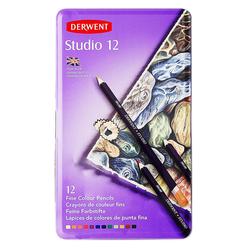Derwent Studio Kuru Boya Kalemi 12 Renk DW32196 - Thumbnail