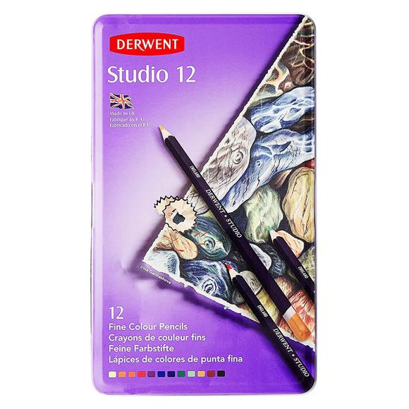 Derwent Studio Kuru Boya Kalemi 12 Renk DW32196