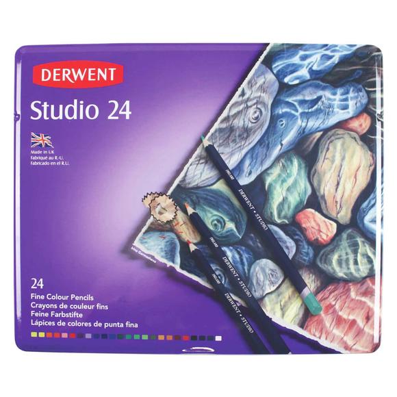 Derwent Studio Kuru Boya Kalemi 24 Renk DW32197