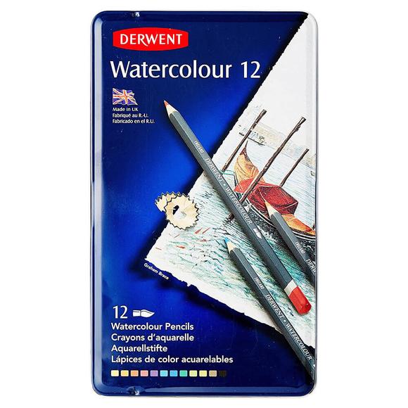 Derwent Watercolour Aquarell Boya Kalemi 12 Renk DW32881