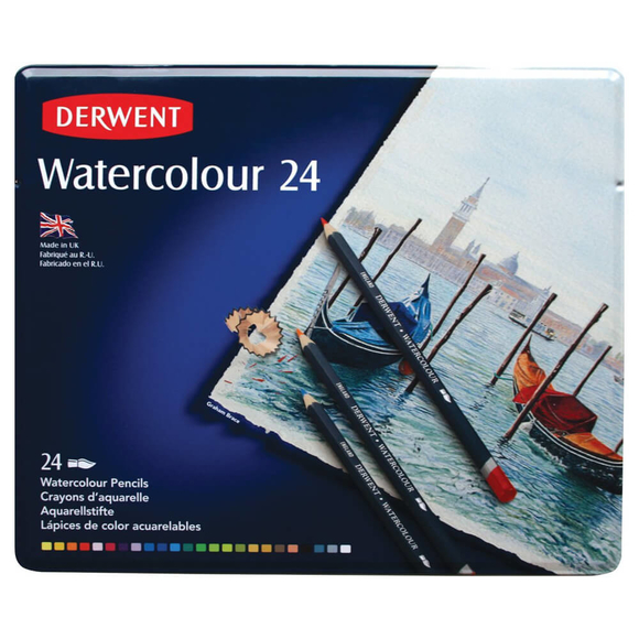 Derwent Watercolour Aquarell Boya Kalemi 24 Renk DW32883