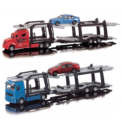 Dickie Die Cast Free Whell Car Transporter - Thumbnail