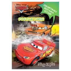 Disney Arabalar Dostluk Yarışı - Çıkartmalı Boyama Kitabı - Thumbnail