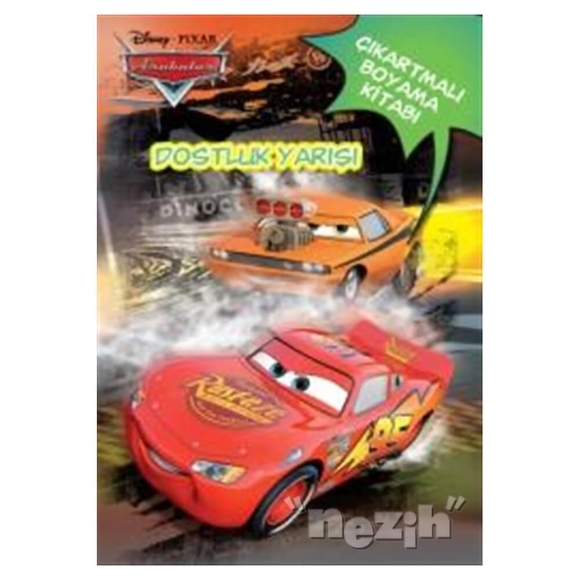 Disney Arabalar Dostluk Yarışı - Çıkartmalı Boyama Kitabı