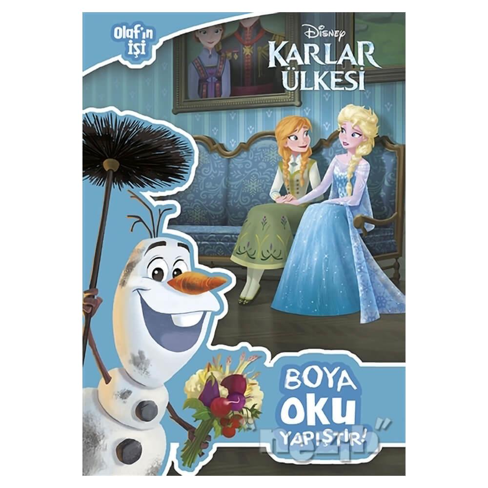 Disney Karlar Ulkesi Olaf In Isi Boya Oku Yapistir Nezih