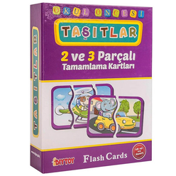 Diytoy Eğitici Flash Card Book Taşıtlar - Thumbnail