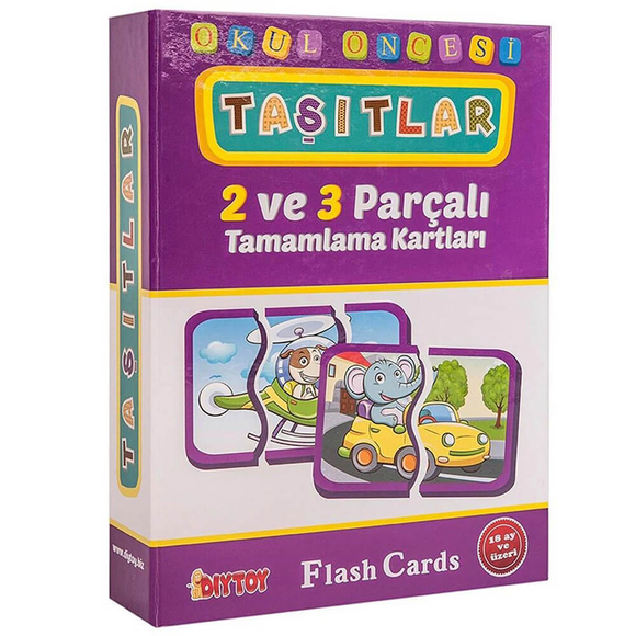 Diytoy Eğitici Flash Card Book Taşıtlar