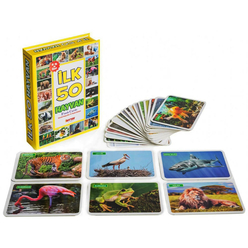 Diytoy Eğitici Flash Cards Book İlk 50 Hayvan - Thumbnail