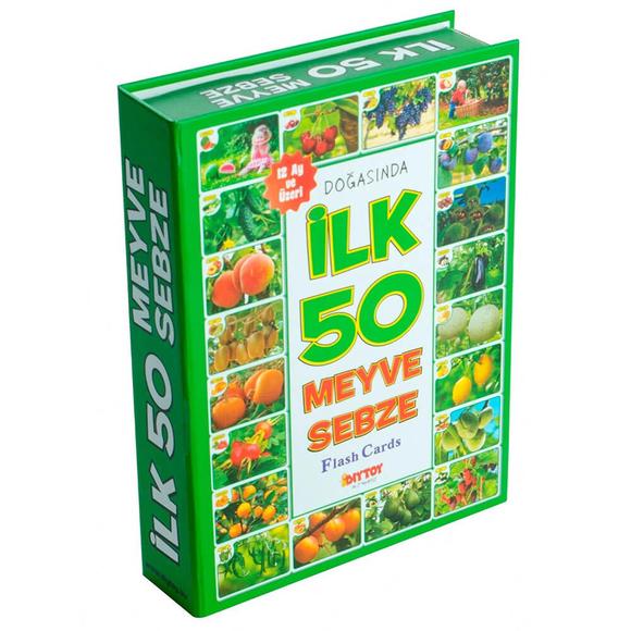 Diytoy Flash Cards İlk 50 Meyve Sebze