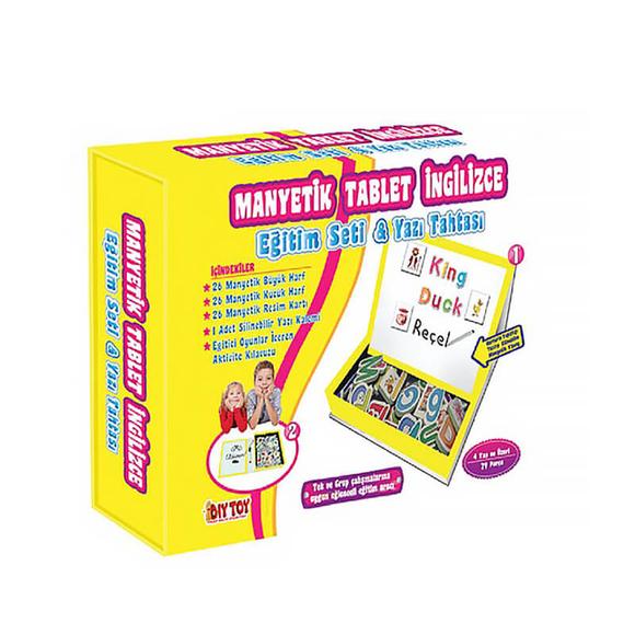 Diytoy Manyetik Tablet İngilizce Seti
