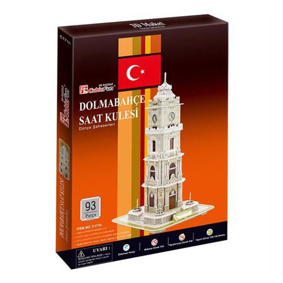 Dolmabahçe Saat Kulesi 93 Parça 3D Puzzle C171H