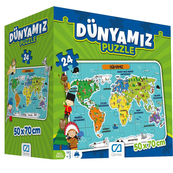 Dünyamız Eğitici Puzzle 025