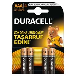 Duracell Alkaline İnce Kalem Pil AAA 4'lü - Thumbnail