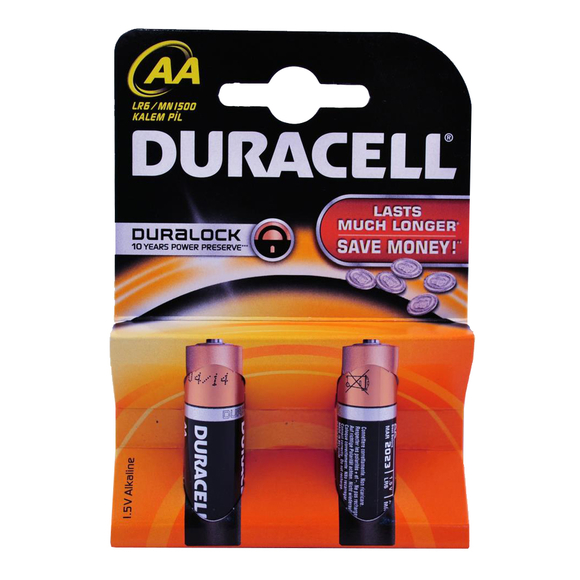 Duracell Alkaline Kalem Pil AA 2'li