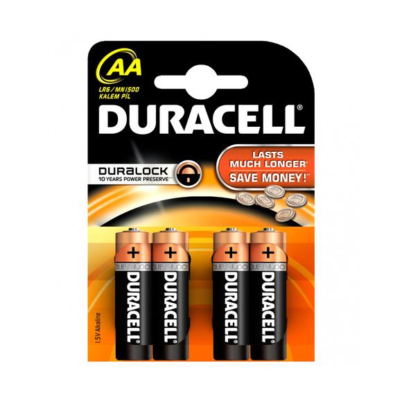 Duracell Alkaline Kalem Pil AA 4'lü