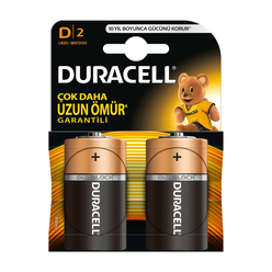 Duracell Alkaline Pil D 2'li - Thumbnail