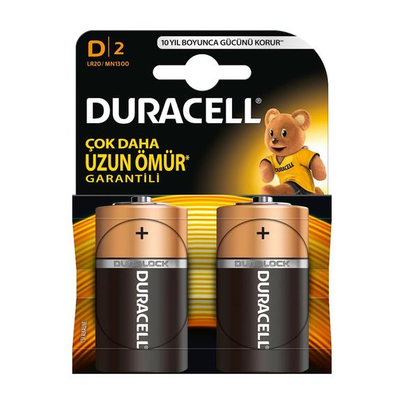 Duracell Alkaline Pil D 2'li
