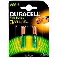 Duracell Şarjlı İnce Kalem Pil AAA 750 Mah 2'li - Thumbnail