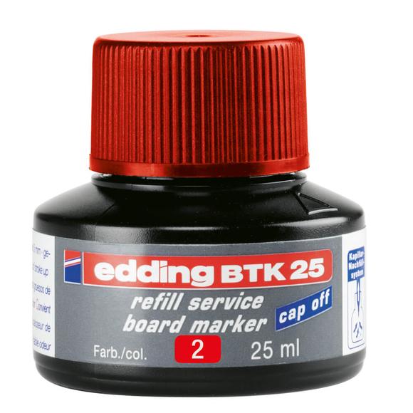 Edding Board Marker Mürekkep 25 ml Kırmızı E-BTK25