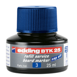 Edding Board Marker Mürekkep 25 ml Mavi E-BTK25 - Thumbnail