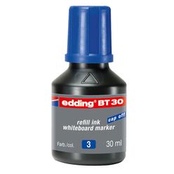 Edding Whiteboard Marker Mürekkep 30 ml Mavi E-BT30 - Thumbnail