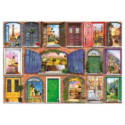 Educa Doors of Europe 1500 Parça Puzzle 17118 - Thumbnail