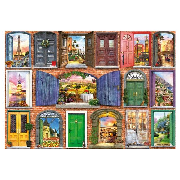 Educa Doors of Europe 1500 Parça Puzzle 17118