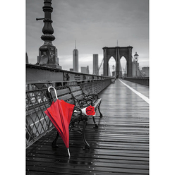 Educa Red Umbrella, Brooklyn Bridge 1000 Parça Puzzle 17691 - Thumbnail