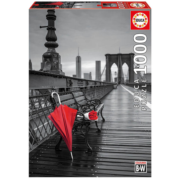 Educa Red Umbrella, Brooklyn Bridge 1000 Parça Puzzle 17691