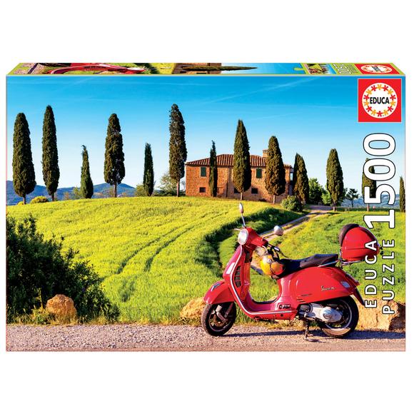 Educa Scooter in Toscana 1500 Parça Puzzle 17121