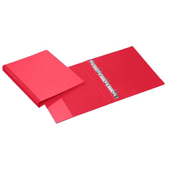 Esselte PP Dış Cepli 4 Halkalı Klasör Kırmızı 4242-25