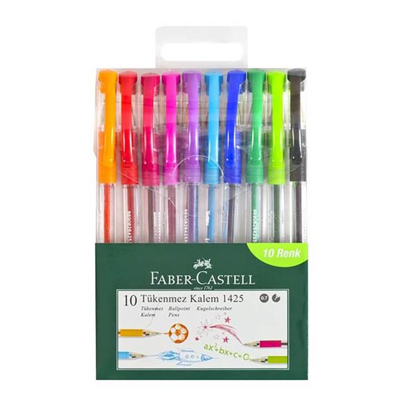 Faber Castell 1425 Tükenmez Kalem Seti 10 Renk 57000