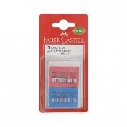 Faber-Castell 7098/36 PVC-Free Renkli Silgi 2 li Blister - Thumbnail