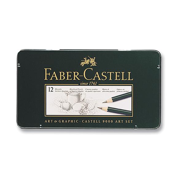 Faber Castell 9000 Art Dereceli Kurşun Kalem Seti 12'li 8B-2H