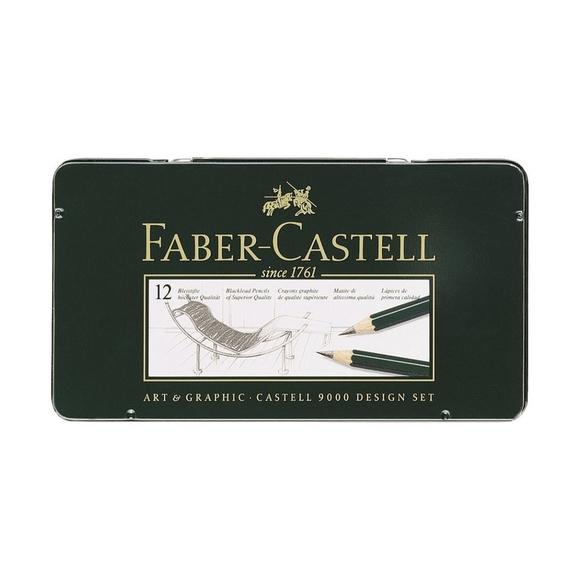 Faber Castell 9000 Design Dereceli Kurşun Kalem Seti 12'li 5B-5H