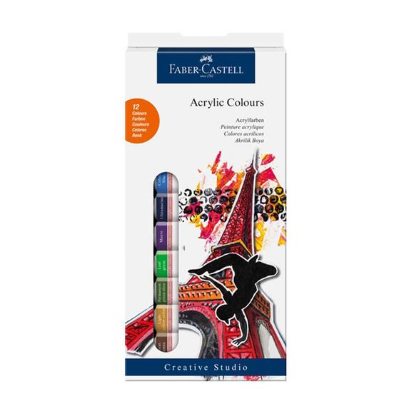 Faber Castell Akrilik Tüp Boya 12 Renk 169501