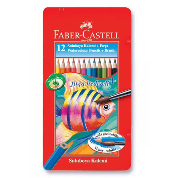 Faber Castell Aquarel Boya Kalemi Metal Kutu 12 Renk 115929