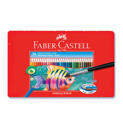 Faber Castell Aquarel Boya Kalemi Metal Kutu 36 Renk 115931 - Thumbnail