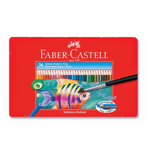 Faber Castell Aquarel Boya Kalemi Metal Kutu 36 Renk 115931