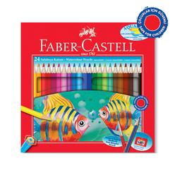 Faber Castell Aquarel Kuru Boya Kalemi Karton Kutu 24 Renk - Thumbnail