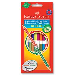 Faber Castell Bicolor Çift Taraflı Boya Kalemi 24 Renk - Thumbnail