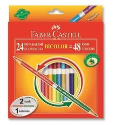 Faber Castell Bicolor Çift Uçlu Kuru Boya Kalemi 48 Renk - Thumbnail